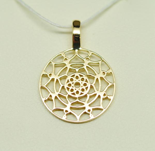 Médaille-or-jaune-motifs-Mauresques